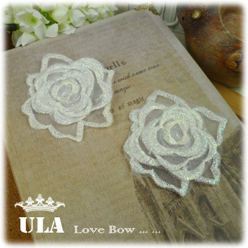 embroidery flower appliques DIY Decoration rose wedding decorations valentine's gift  40pcs/lot