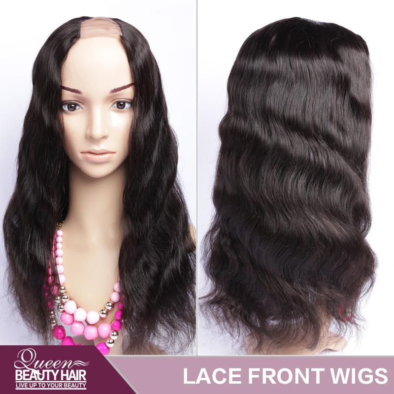 Brazilian Lace Front U Part Human Hair Wigs For Black Women Glueless Full Lace U Part Wigs Brazilian Upart Wig Hair Body Wave(China (Mainland))