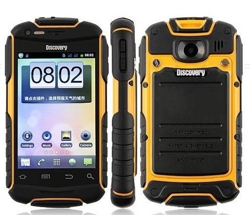 Discovery V5 Shockproof Dustproof Smart Phone Android 4.0 mtk6572 dual core WiFi 3.5 Inch Capacitive Screen Rock free shipping
