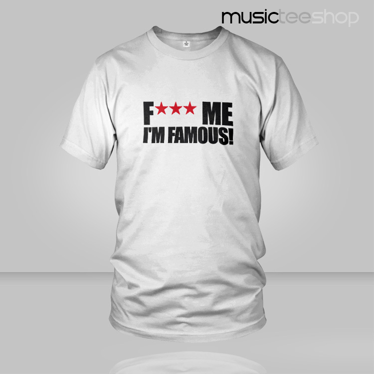 High Grade Lycra Cotton Men`s T Shirt FK Me I`m Famous Logo Shirts Bar Music Style Shirts Free Shipping(China (Mainland))