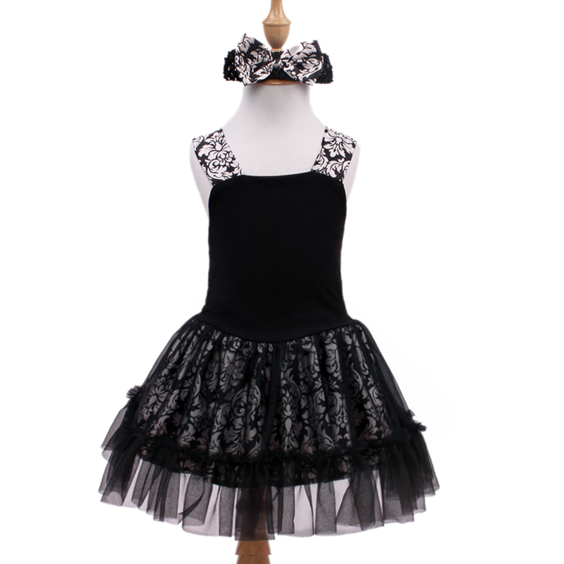 2016 Fashion Summer Baby Girl Dress Sling Sleeve Princess Dresses Children Black Flower Soft Bebe Minnie kids Clothes Vestidos(China (Mainland))