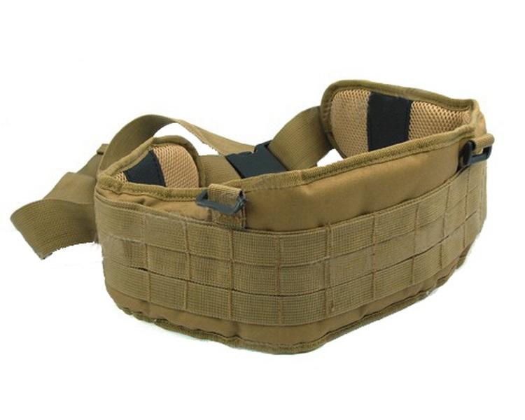 4 Colors Airsoft Tactical Padded 1000D Nylon Molle Waist Belt Combat Army Battle Cummerbunds Mens - Uniform Club store