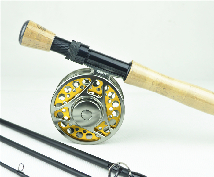 Free shipping carbon fly rod 9 ft 2 7 m 4 section 7 8 fishing rod