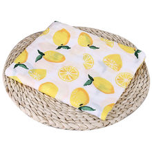 Puseky 110x110cm Newborn Baby Cotton Fruit Plant Animal Soft Muslin Swaddle Shower Bath Towel Blanket Wrap Cloth Bedding Cover(China)