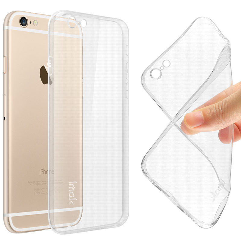 IMAK Ultra Thin Soft TPU Case For Apple Iphone 6 Transparent Case Slim Phone silicone Cover For Iphone 6 4.7'(China (Mainland))