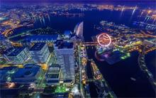 Japan Tokyo beautiful modern cityscapes Yokohama city lights Home Decoration Canvas Poster Prints