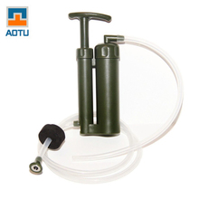 AOTU Portable Plastic 0.1 Micro Soldier Water Filter Purifier Cleaner Outdoor Hiking Camping Survival Emergency Free Shipping