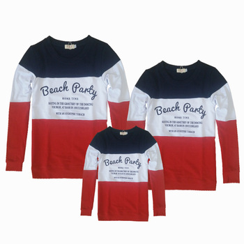 Family Look Winter Top Long-sleeve T-shirts Matching Mother And Daughter Father Son Clothes Clothing Outfits Suits Pullovers M19