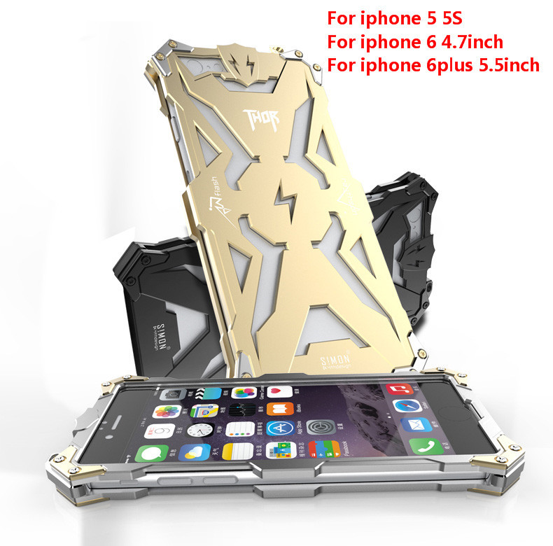 6s Original Design metal Shell of Cool Metal Aluminum THOR IRONMAN protect phone cover shell case for iphone 5 5S 6 plus 6s plus(China (Mainland))