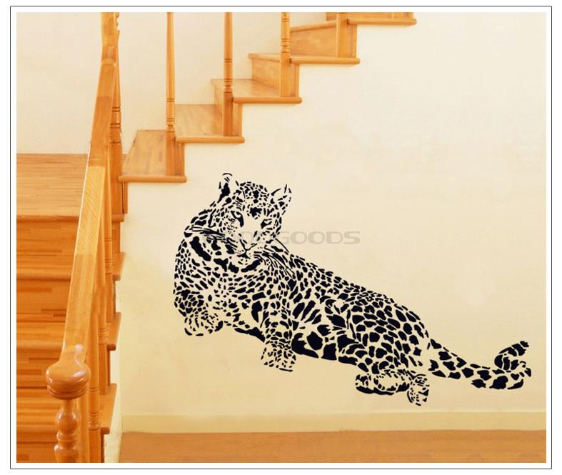 cheetah leopard jungle cat wall sticker mural home art decor bedroom