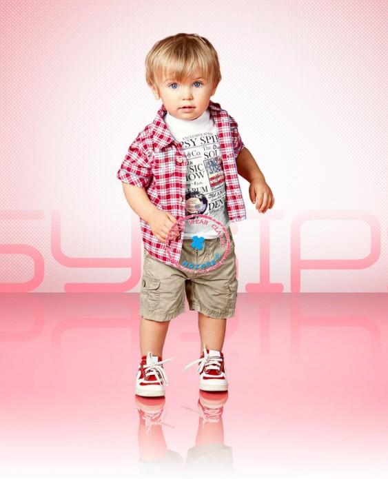 2014 New summer boys short sleeve red plaid shirt + letter t shirt + shorts 3pcs sets Fashion Children casual clothing wear 6set<br><br>Aliexpress