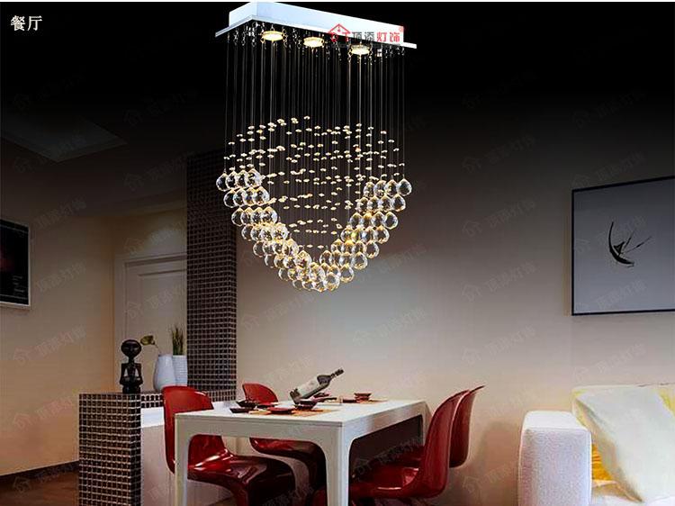 2016 new led crystal ceiling lights modern living room