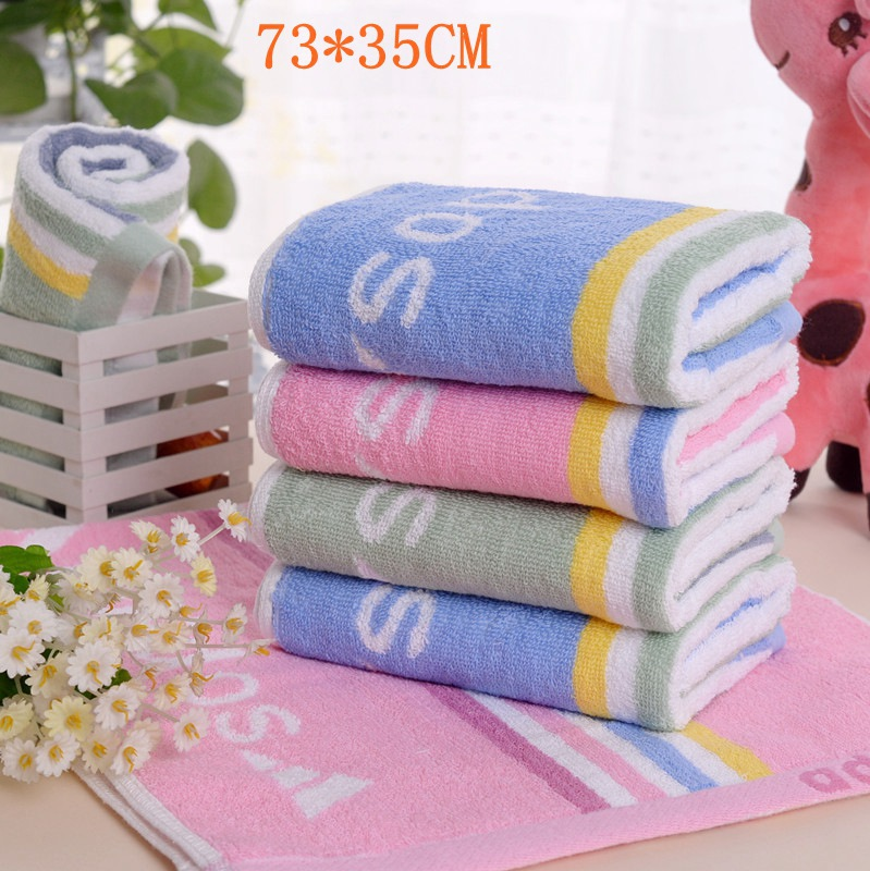 Free Shipping 3pcs/lot 35*73cm 100% cotton Best beach towel cheap towel soft Fabric colored towel face towels for sports(China (Mainland))