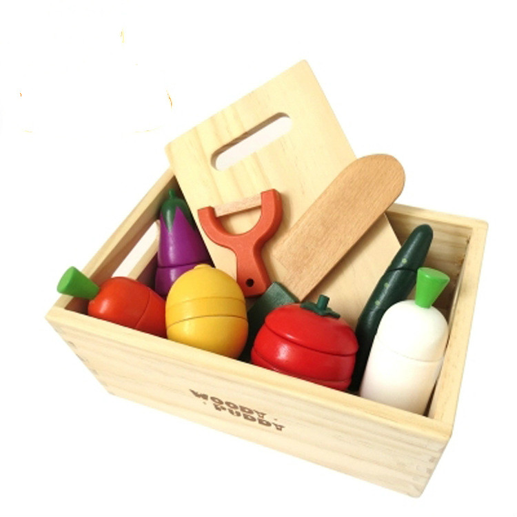 Wooden Kitchen Accessories ~ Baby wooden toy children kitchen toys colorful cut play
