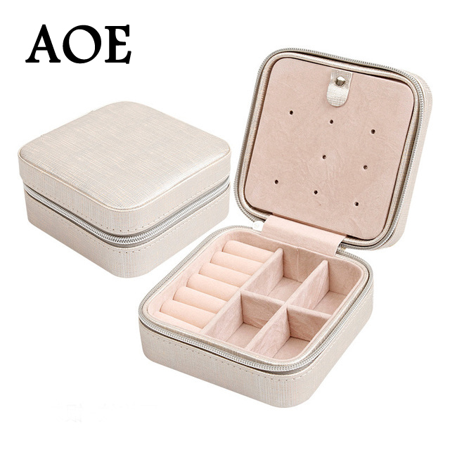7 Color Pu Leather Jewelry Packaging Display 2016 New Design Rings Earrings Boxes Jewelry Carrying Cases Wedding Gift Birthday<br><br>Aliexpress