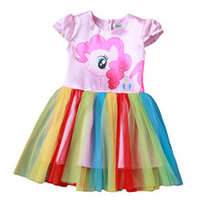 Buy New Year Baby Girl Dress Children little Pony Girls Dresses Cartoon Princess Party Costume Dress Kids Clothes Summer Clothing for $5.94 in AliExpress store