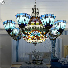 Villa living room dining hall project upscale Mediterranean garden lightsBedroom lamp Hall Chandeliers Upscale atmosphere (China (Mainland))
