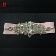 New Promotion Crystals Robbin Sash for Bride Artificial Wedding Belt for Weddings Real Images(China (Mainland))