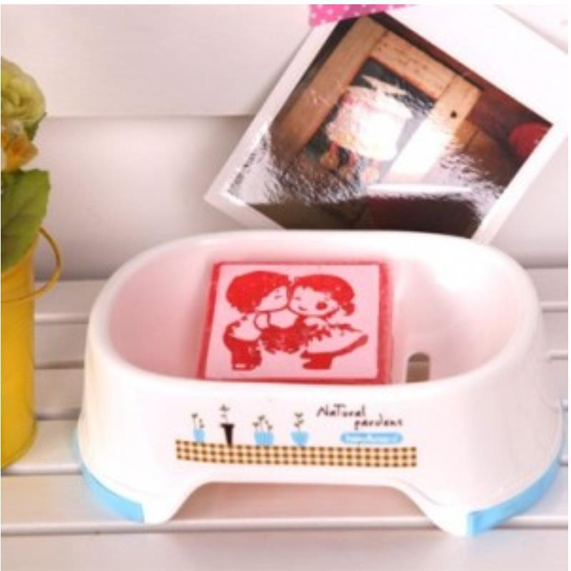bathroom accessories banheiro Creative Drain slip Soap dish random colors porta sabonete bandeja holder(China (Mainland))