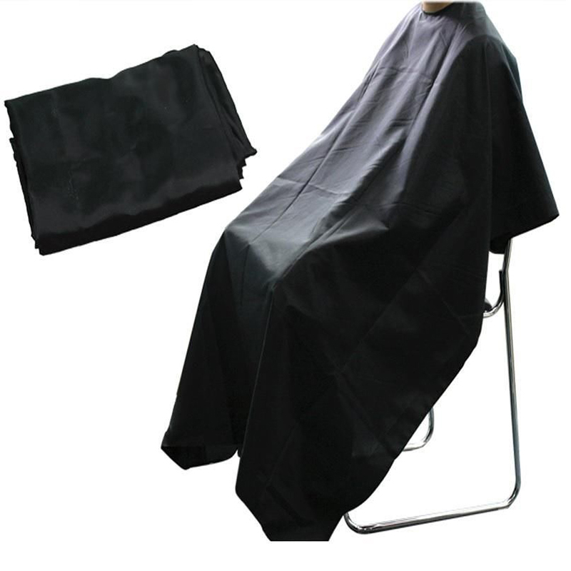 Hot Black Professional Salon kappers Barber cape Hairdresser Hair Cutting Gown cape for barber Apron Waterproof Cloth LT01140(China (Mainland))