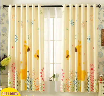 cartoon kids room window curtains for baby room children