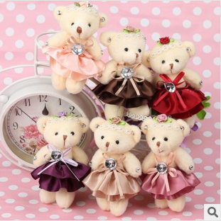 Kawaii Little Bears with Diamond/Skirt,Toys for Baby,Kids Toys for Girls,Bulk Stuffed Animals,Gift Kids,Bouquets of Toys on Sale(China (Mainland))