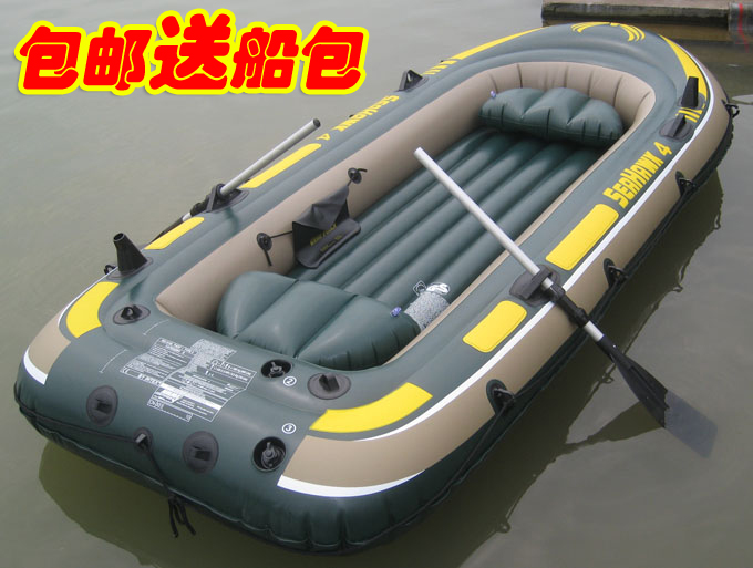 Genuine INTEX thickening inflatable boat 3 four kayak kayak single and double one fishing boat assault(China (Mainland))