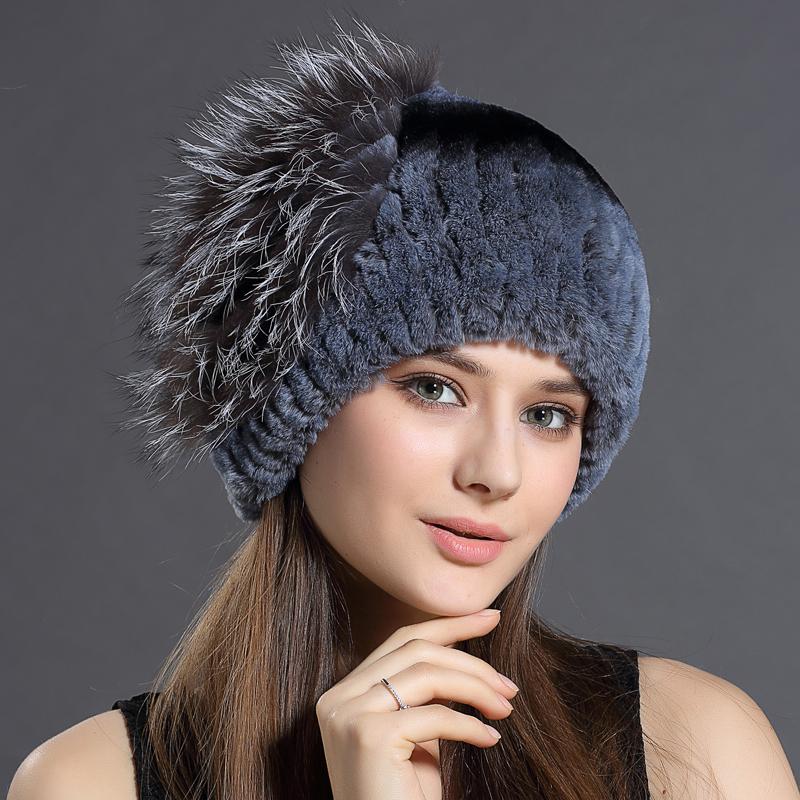 New Women HatsRabbit Fur Fox fur plus side seam stripe pattern capelin Hat Cap headgear headdress Various Fashion Women Hats(China (Mainland))
