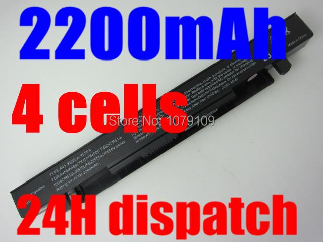 2200MAH 14.4V Laptop Battery For ASUS A41-X550 A41-X550A X450 X550 A450 A550 F450 F550 F552 K450 K550 P450 P550 R510 4Cells(China (Mainland))