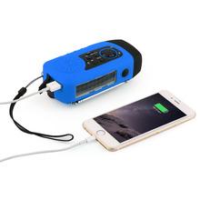 OUTTAD Hand Crank Solar Radio Phone Outdoor Charger hand crank generator TF/MSD Card Radio dynamo flashlight 1W LED lighting(China (Mainland))