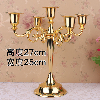 Five Candlestick 5 With Continental Candle Holders Wedding Supplies candelabra Home Decoration Black. Golden Silver bronze(China (Mainland))