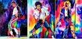 Dance studio paintings decorative painting cartoon children's room bedroom bed wall painting ballet girl oil painting