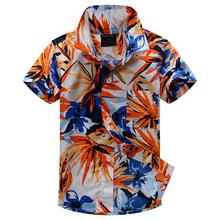 2015 new arrival cotton 100% floral shirt hawaiian shirt aloha shirt for boy T1507
