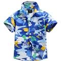 New arrival Hawaiian floral shirt cotton 100 for boy D31
