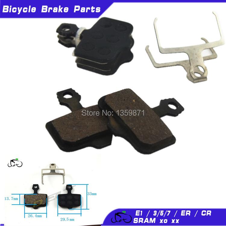 MTB Mountain cycling bike Bicycle disc brake pads shoes Elixir AVID Elixir E1 /3/5/7/9 ER / CR SRAM xo xx 841 hydraulic 4 pairs(China (Mainland))