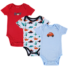 Baby Bodysuits 3PCS 100 Cotton Body Bebes Short Sleeve Infant Clothing Similar Carters Jumpsuit Printed Baby
