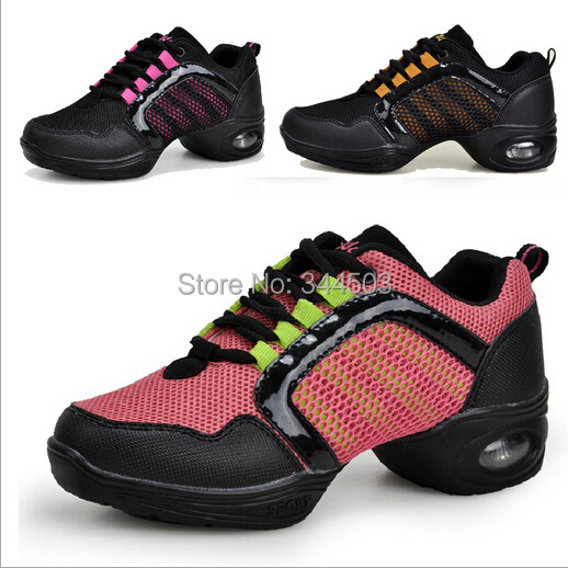 women dance shoes breathable height increasing latin jazz shoe dancing Sneakers EUR35-40 - Go Lady store