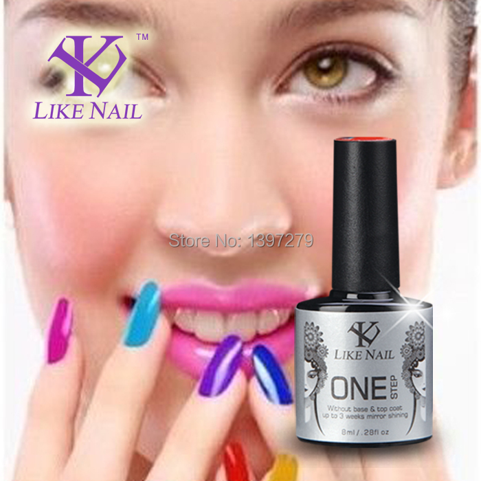 Sex nail beauty Talent necessary one step gel polish for woman product 60 Colors 8ml (choose 9) selling 1000pcs Free Shipping(China (Mainland))