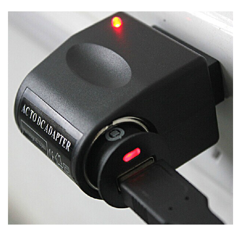 Black 220V Wall Power EU Plug AC To DC 12V Car Cigarette Lighter Adapter Converter High Quality(China (Mainland))