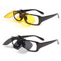 Sunglasses Men Durable Clip Sunglasses Flip up Plastic Sunglasses Men Driving Fishing SunGlasses Women 4 Styles