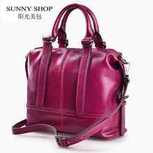 SUNNY SHOP American Luxury Handbags Genuine Leather Women Bags Designer Women Messenger Bags Women Real Leather Handbags(China (Mainland))