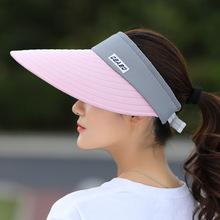 Venta al por mayor 1 piezas mujeres verano sombreros de Sun perla plegable sun visor sombrero con cabezas grandes de ala ancha sombrero de playa UV la protección de la mujer cap(China)