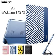 Case for iPad mini 1/2/3,ESR (Ultra Slim Version) Trifold Flip Case Smart Cover Auto Wake Up/Sleep Function] for iPad mini 1/2/3(China (Mainland))