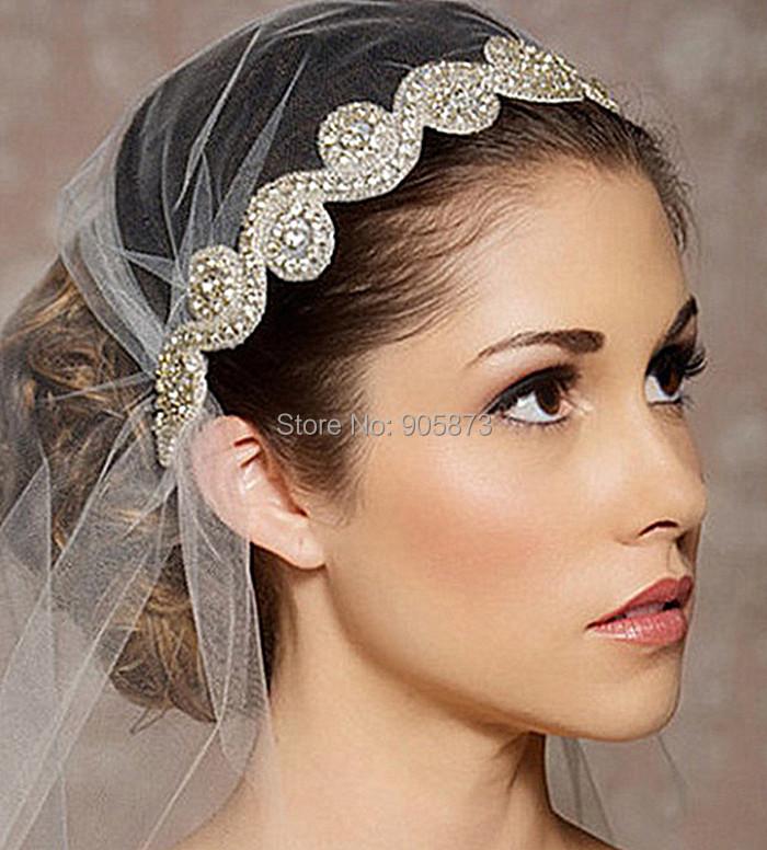 2014 Fashion wedding hair accessories handmade rhinestone bridal headbands XH23 - Kay's Wedding store