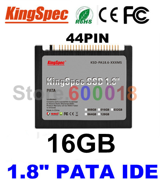 """L Kingspec CE ROSH FCC,1.8"""" inch PATA IDE 44PIN SSD Solid State Disk 16GB Hard Drive FOR IBM X40 X41 X41T Computer Components(China (Mainland))"""