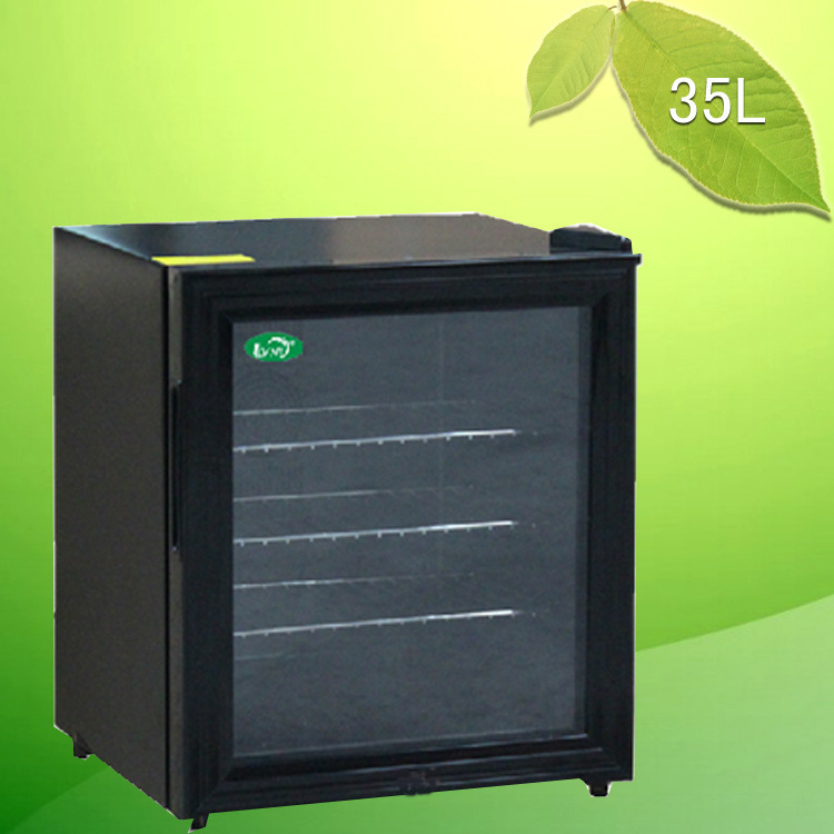Supplying 35l small refrigerator room glass door for Small room fridge