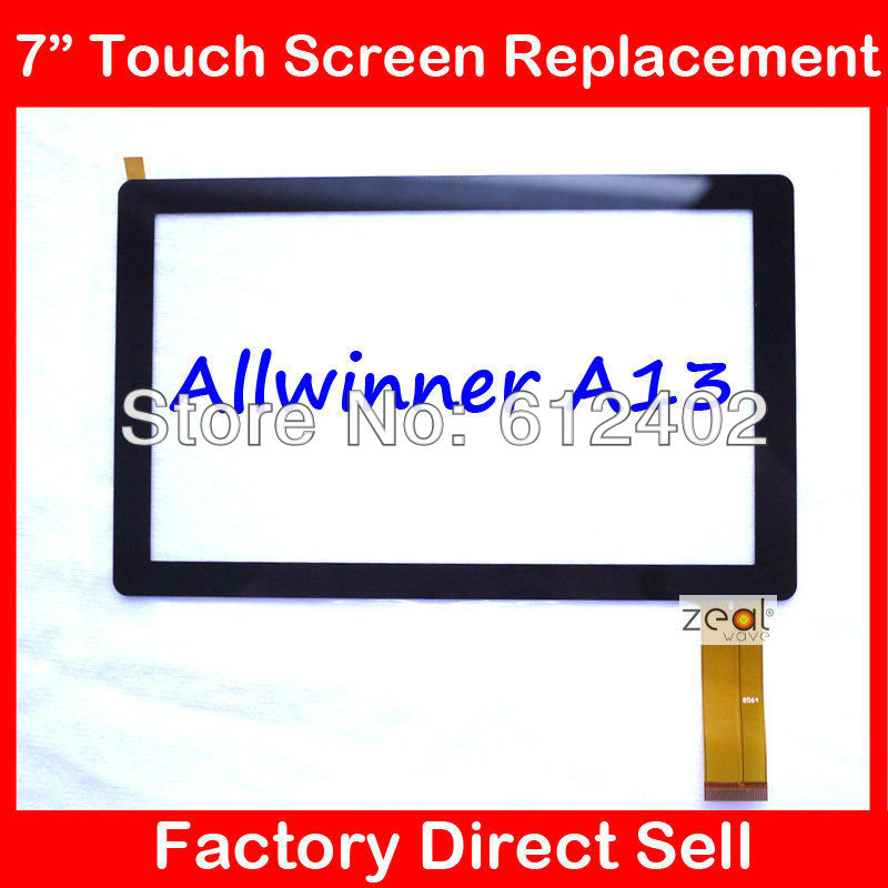 """5PCS 7"""" 7Inch Capacitive Touch Screen PANEL Digitizer Glass Replacement for Allwinner A13 Q88 Q8 Tablet PC pad A13(China (Mainland))"""