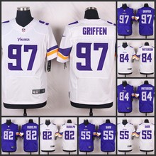 ABCSALE Elite men Minnesota Vikings Everson Griffen Cordarrelle Patterson Kyle Rudolph Anthony Barr Adrian Peterson E-5(China (Mainland))