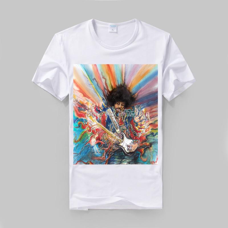 Jimi hendrix purple haze poster printing t shirt high for High quality printed t shirts