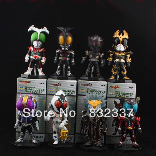 High Quality anime figure PVC 9Generation Masked Rider action figure toys 8PCS/SET Free Shipping<br><br>Aliexpress